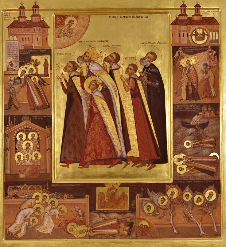 Elena Murariu, Saint Martyrs Brâncoveanu icon Elena Murariu_Sfintii Brancoveni