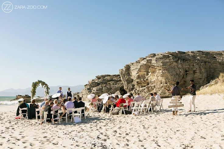 Outdoor beach wedding ceremony at Grootbos Nature Reserve, Walker Bay.