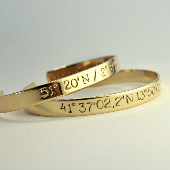 Custom Coordinate Bracelet . Personalized by TatumBradleyCo