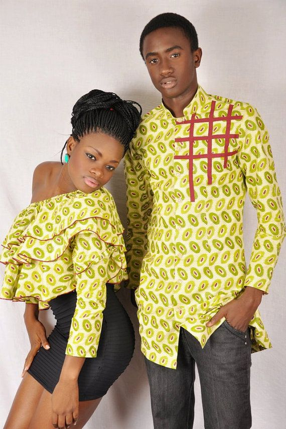 Lovely couple design African design top. by fifiMdesigns on Etsy, ~African fashion, Ankara, kitenge, African women dresses, African prints, African men's fashion, Nigerian style, Ghanaian fashion ~DKK
