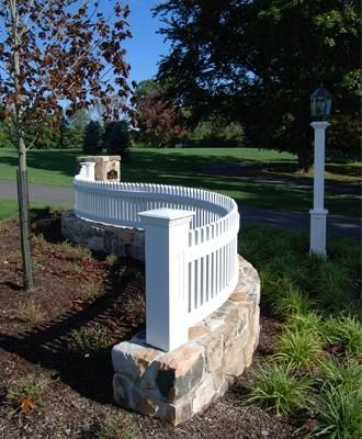 Custom Elevated Radius Fence| Wood Fences, Solid Cellular PVC Fences, Metal Fences and Hollow Vinyl Fences from Walpole Woodworkers