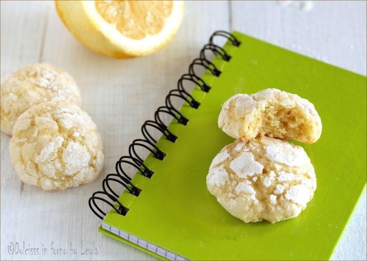 Biscotti morbidi al limone Dulcisss in forno by Leyla