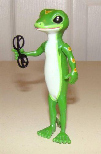 Geico Gecko Lizard Figurine Holding Glasses Very Rare