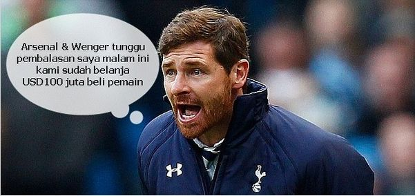 AVB Tottenham bilang tunggu pembalasan saya Arsenal Wenger
