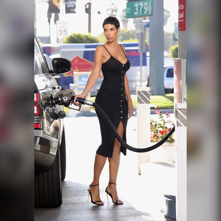 #NicoleMurphy out here trying to be your #WCW at the pump! 📷: Mega Photo Agency