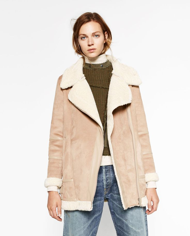 Oversized Suede Effect Jacket Coats Outerwear Woman Zara
