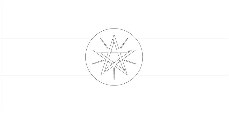 Ethiopia flag coloring page :: Sonlight, Core C, Window on
