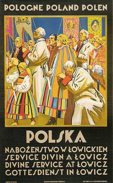Stefan Norblin, Poland – Divine Service at Lowicz, 1925