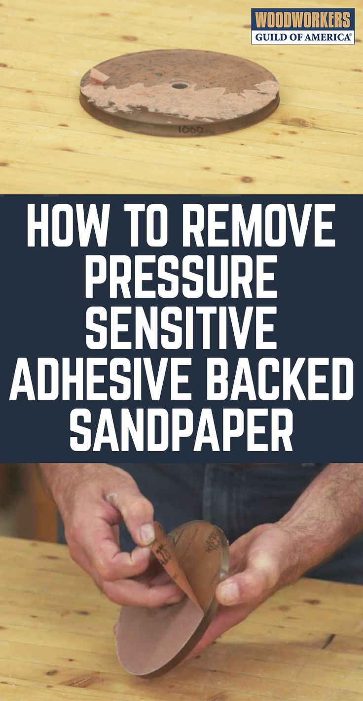 Adhesive backed sandpaper is very convenient, right up to the point where you need to take it off so you can put on a new piece of paper. The good news is that adhesive backed sandpaper sticks pretty well while you're using it. The bad news is that it continues to stick pretty well when you're trying to take it off. Here's a very cool trick that will help you peel your paper in one large piece, instead of a hundred tiny ones.