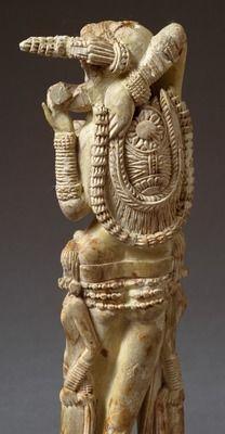 Goddess Lakshmi, Indian ivory statue found at Pompeii, Italy, Indian Civilization, 1st century