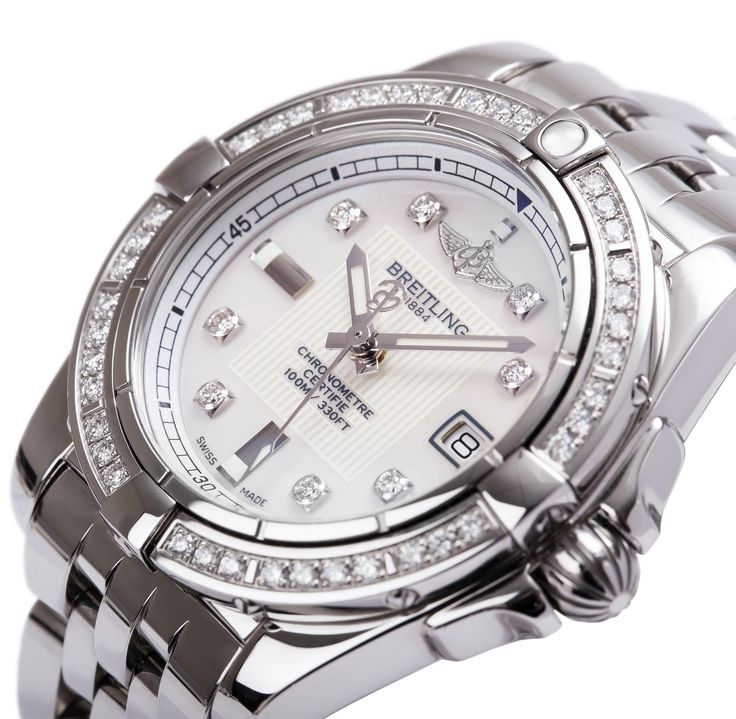 Breitling Women's Watches with Diamonds | The Watch Gallery Stores http://www.thesterlingsilver.com/product/citizen-watch-promaster-diver-mens-solar-powered-watch-with-black-dial-analogue-display-and-silver-stainless-steel-strap-bn0150-28e/