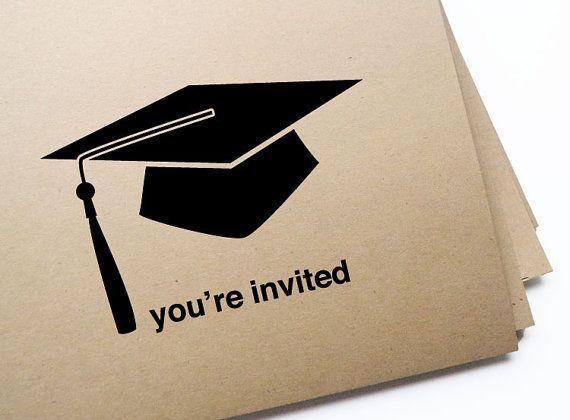 DIY Printable Graduation Invitation Postcards by GirlinGearStudio, $15.00