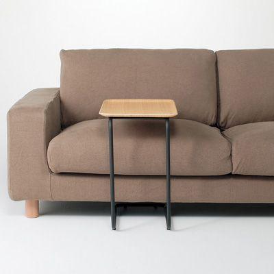 スチールパイプサイドテーブル/ブラウン 幅46×奥行31×高さ49.5cm | 無印良品ネットストア