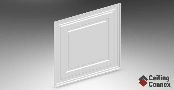 CeilingConnex Mission PVC Ceiling Tile