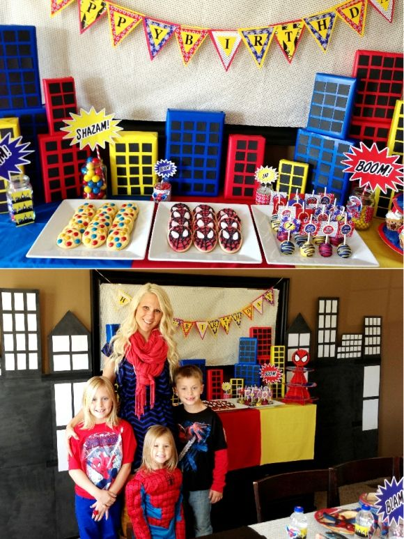 A Spiderman Inspired 7th Birthday Party Back Ground