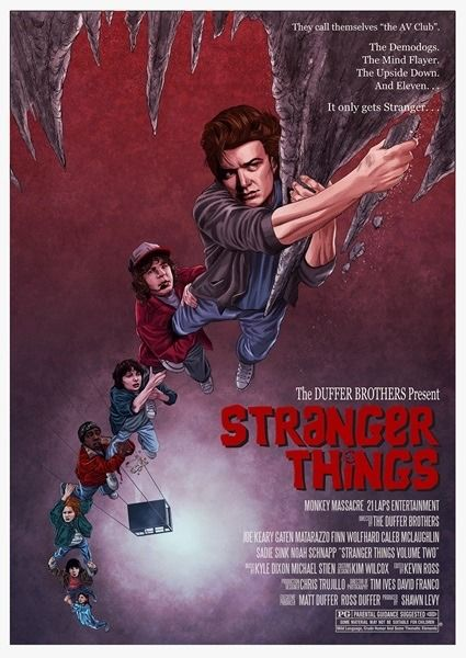 'Stranger Things' Season 2 poster inspired by 'The Goonies' by Mike McGee