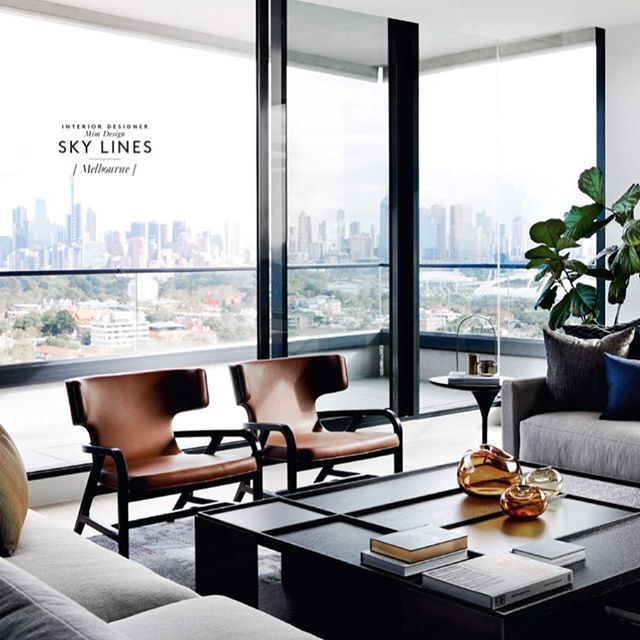 Big thankyou @bellemagazineau for featuring our South Yarra project for our wonderful client @michaellfox this project was a long time in the making and well worth it with extraordinary views . Grab a copy. on our website soon . Thankyou @sharyncairns great shoot as always ! @bebitalia @behruzstudio @spacefurniture @hubfurniture #mimdesign #mimdesignresidential #view