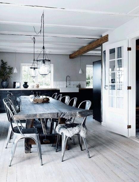 Une maison rustique et brute   PLANETE DECO a homes world   décoration interieure   Scoop.it