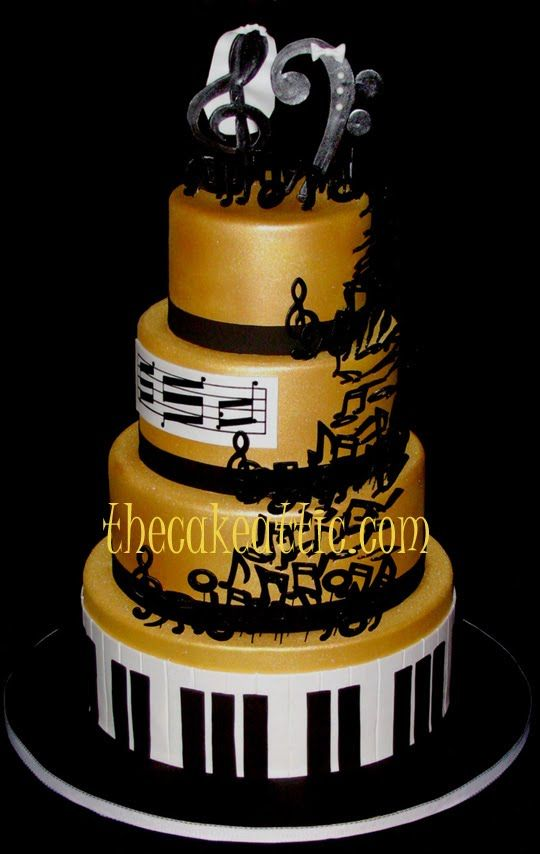 Cake Decoration Music : 25+ best ideas about Music wedding cakes on Pinterest ...