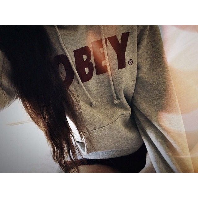 OBEY hoodie and long hair