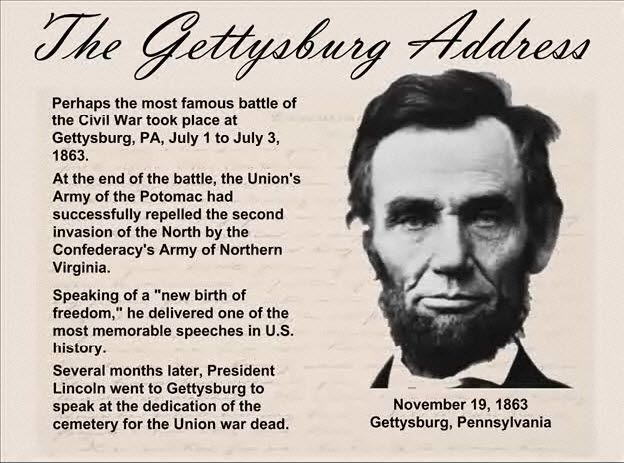 An interactive Gettysbury Address, transcript and additional instructional resources. Excellent resources for a good Universal Design for Learning (UDL) lesson.