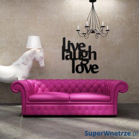 Napis na ścianę DekoSign LIVE LAUGH LOVE czarny LLL1-1