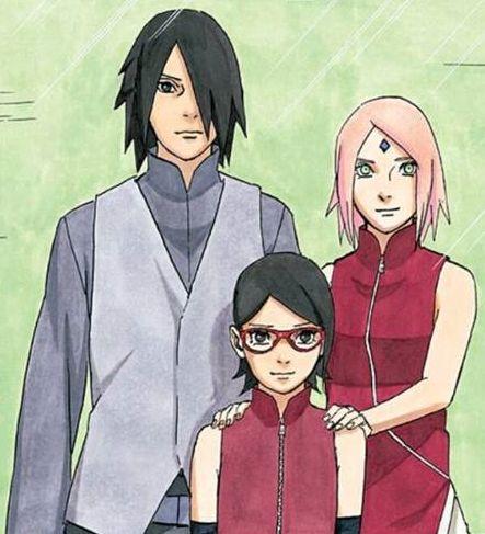 〖 Naruto Sasuke Uchiha Sarada Sakura family photo 〗