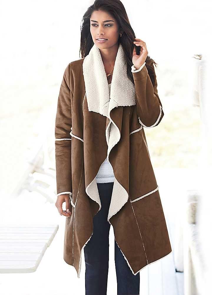 shearling coats for women | Long Faux Sheepskin Coat | Coats & Jackets | Fashion | Kaleidoscope