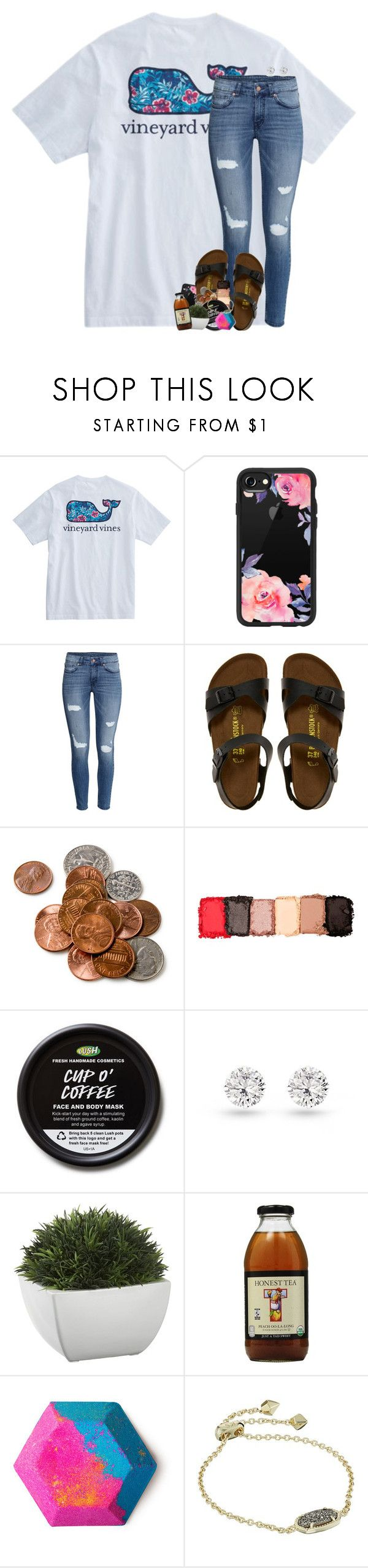 """""""we have to accept the things we cannot control"""" by theblonde07 ❤ liked on Polyvore featuring Casetify, H&M, Birkenstock, NYX, Crate and Barrel and Kendra Scott"""