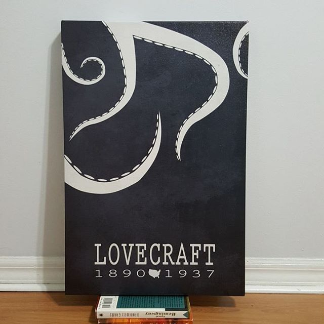 Master of horror and the obscure. Gothic in design, this minimalist gallery wrapped canvas represents the obsession H. P. Lovecraft had for the creatures that lurk in the night. The Call of Cthulhu.