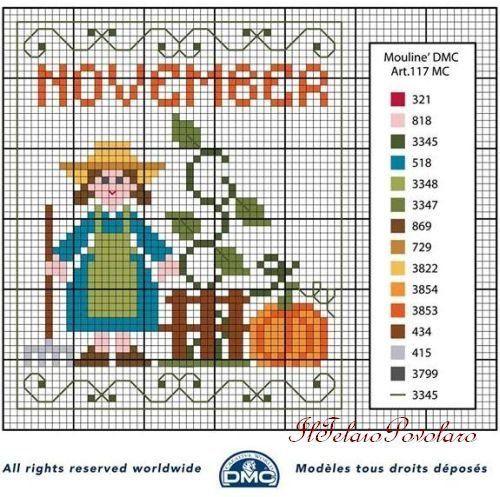 A proposito di free... Voilà lo schema di novembre per il calendario perpetuo ''DMC''