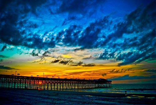 The Pier at Garden City Beach, SC. Can't wait to sit out there again this year and listen to some great music; and maybe have a frozen drink or two!