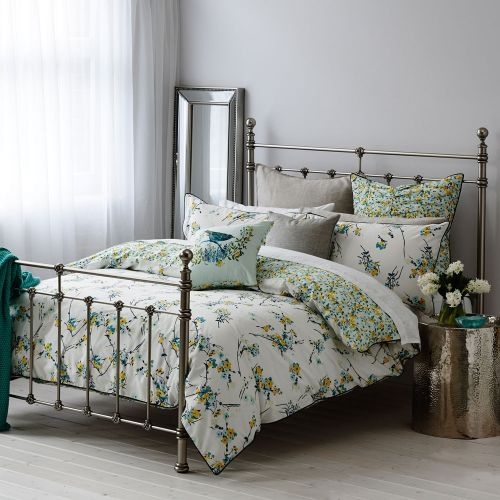 Exclusively hand painted by the Adairs design team, this quilt cover set from Mercer + Reid features a stunning display of delicate snow blossom that will bring a fresh new look to any bedroom. Fully reversible for an alternate styling option this botanical design has been printed onto luxuriously soft cotton percale to ensure you are sleeping in ultimate comfort. Complete the look with the stunning floral patterned European pillowcases and coordinating bedlinen cushion.