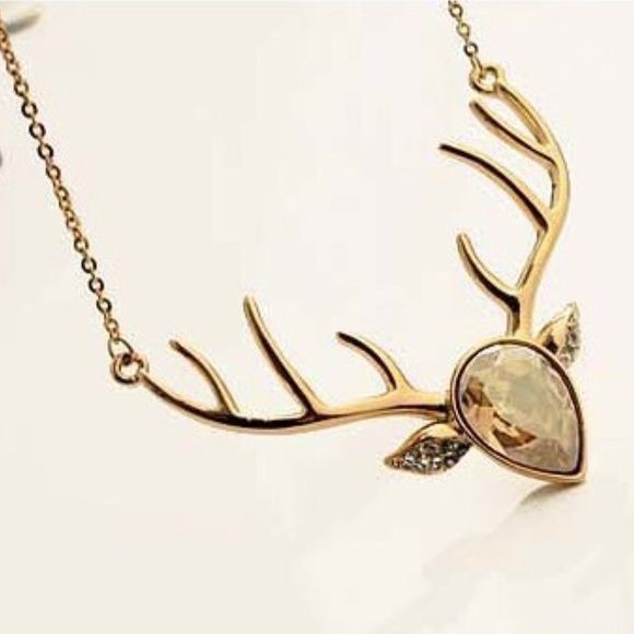 Gold Deer Necklace Super cute necklace that adds that extra sass to your outfit!! Perfect for the Good ole country girl!                                                                         ❤️ Prices are negotiable but please be considerate due to Poshmark fees are 20% ❤️ OFFER button is always the best ❤️ Bundles receive great discounts ❤️ SAME day shipping ❤️ No Trades, No holds , No PayPal  ❤️ Happy Poshing  Jewelry Necklaces
