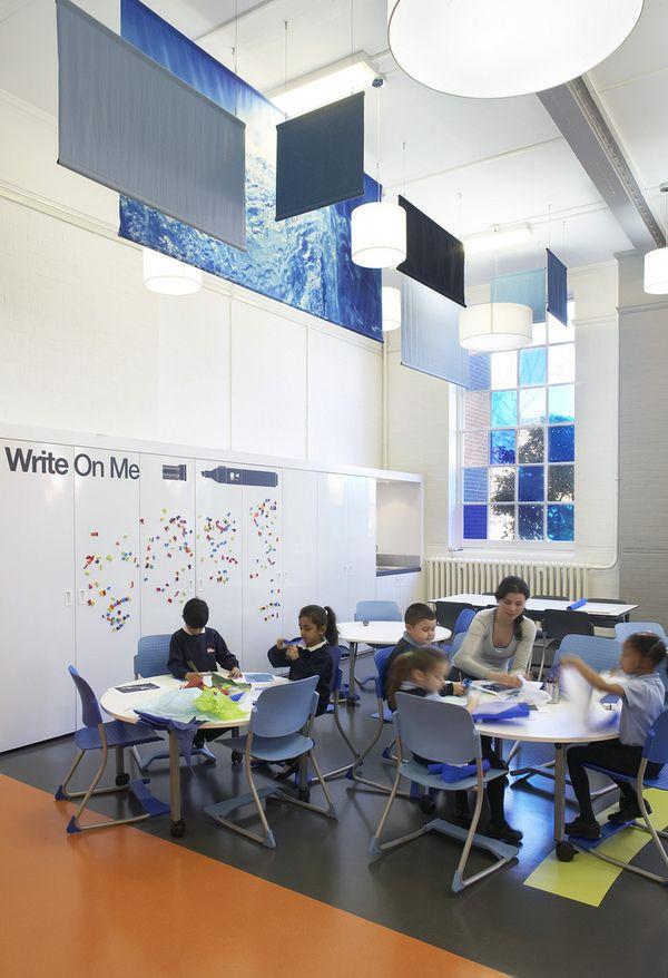 Primary #School Design, London, #Colorful, #Interior