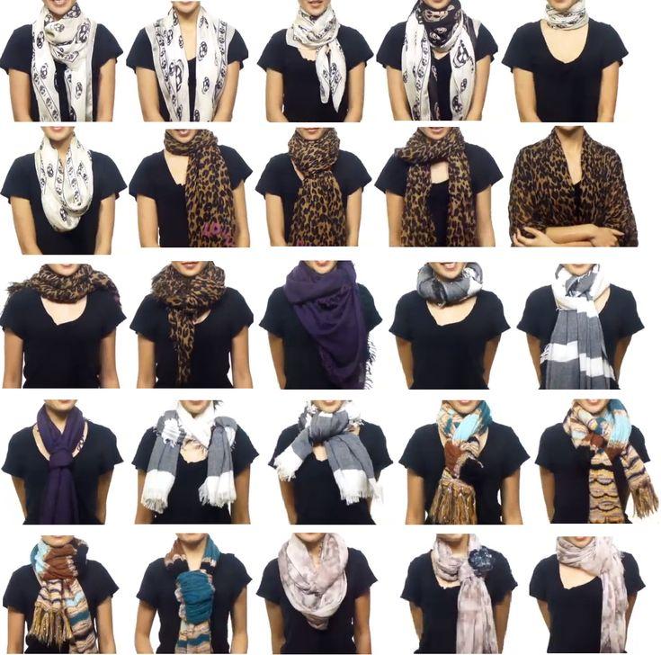Les différentes façons de nouer un foulard pourquoicomment