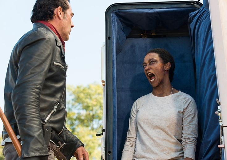 AMC's 'The Walking Dead,' Season 7 finale, Episode 16, Negan and Walker Sasha