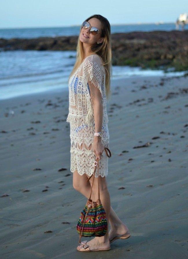 65b53a61b Looks para usar na praia  moda fresquinha para seus dias quentes ...
