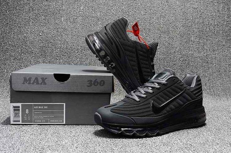 Nike Air Max 360 Running Men Shoes Carbon Gray