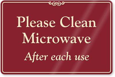 Printable Keep Breakroom Clean Signs Please Clean