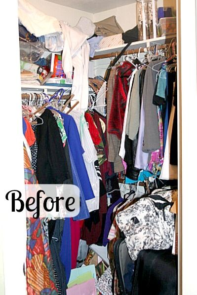 Sometimes a good purge is just what you need! Cleaning out the Closet in Nony's How to Declutter series - A Slob Comes Clean.com