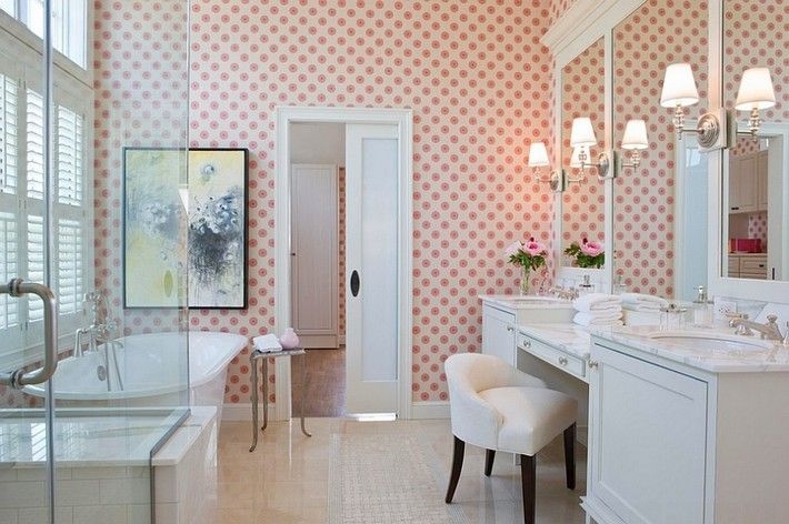 A little feminine touch for your luxury bathroom, see more at http://www.maisonvalentina.net/en/inspiration-and-ideas/