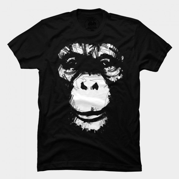 Everything's More Fun With Monkeys! Tee Design by matthewdunnart