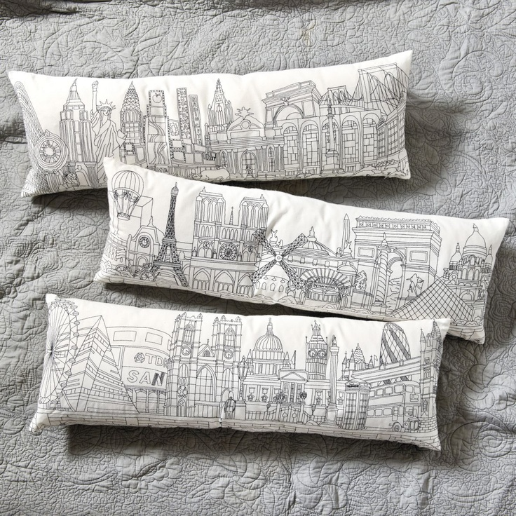 Throw Pillows Ballard Design : 17 Best images about City Skylines on Pinterest The sky, Paris art and Paris city