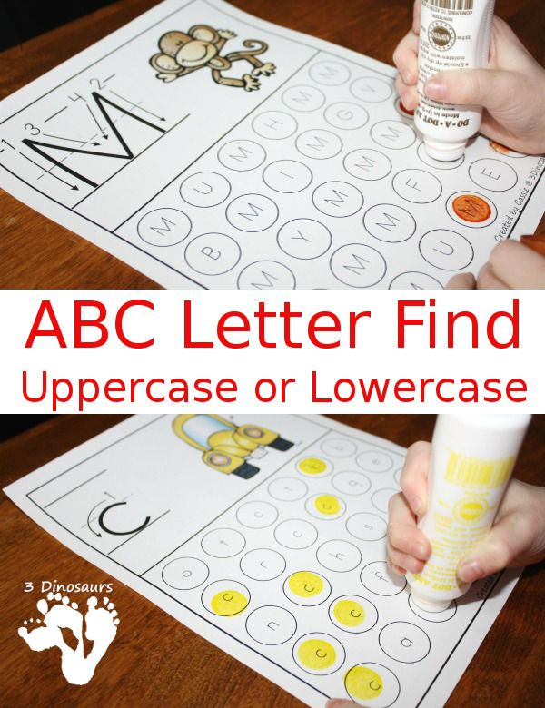 FREE ABC Letter Find for Upper and Lower Case Letters