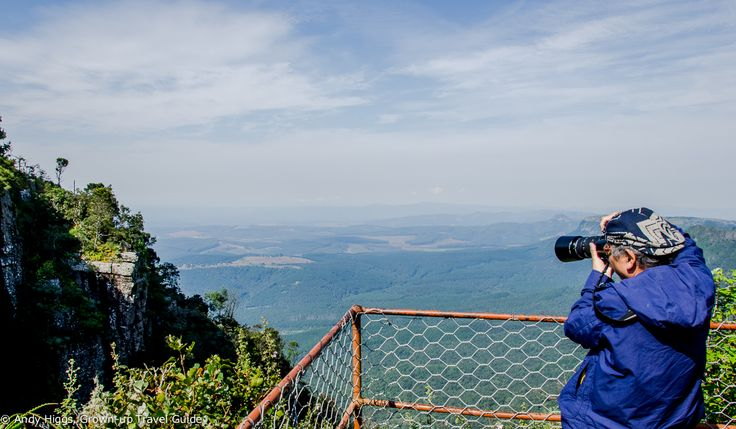 """And this is the view from 'God's Window' over the Drakensburg escarpment in South Africa. The sign in the previous photo is definitely worth complying with, I would not recommend anyone to """"go beyond railings""""..."""