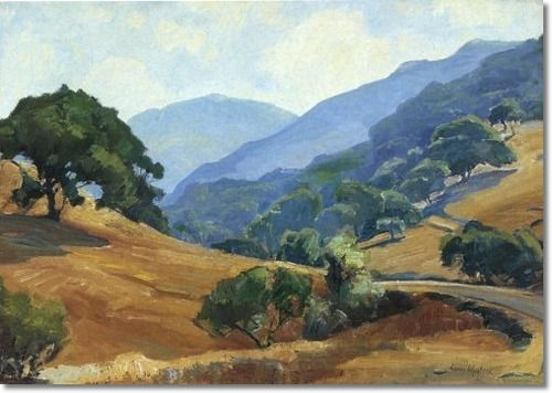 Aaron Edward Kilpatrick - Santa Ynez Oaks - Approximate Original Size - 18x26 - American Artist Paintings Painting