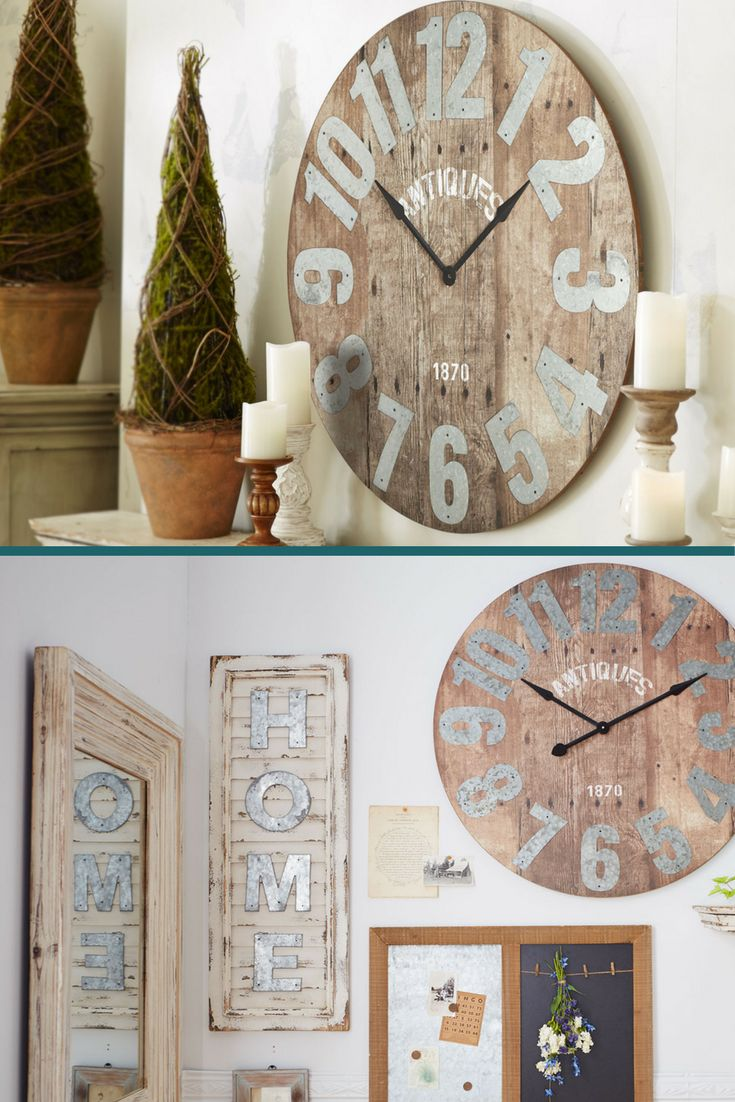 Best 25 Rustic Wall Clocks Ideas On Pinterest Wall