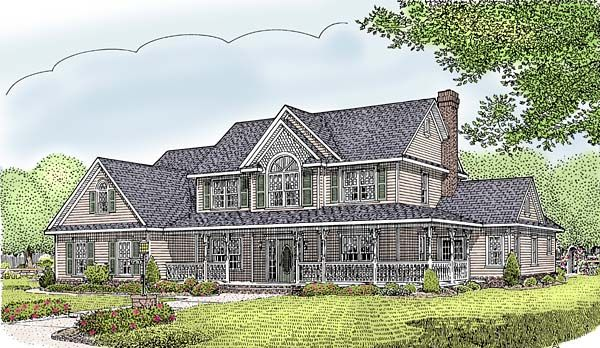 Country Farmhouse House Plan 96839