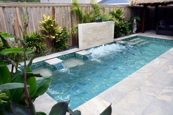 Most Popular Minimalist Small Swimming Poll Backyard Design Ideas Swimmingpool Simple Backyard Luxury Small Backyard Pools Backyard Pool Pool Landscaping